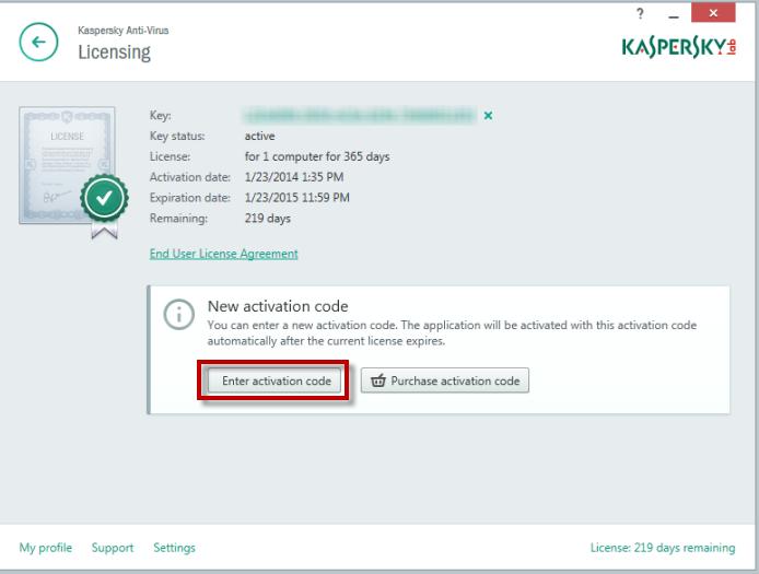kaspersky license key to activation code